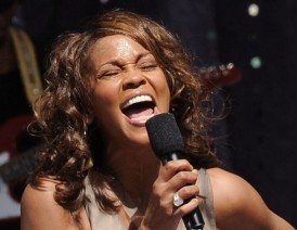 COMEBACK TRAIL Whitney Houston performs live for the first time in years in Central Park, New York, in 2009.