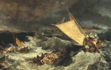 GREAT VOYAGE J.M.W. Turner's The Shipwreck (1805) shows seafaring dangers in the same era as Mary Pitt's journey across the earth to Australia.