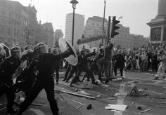 BRITAIN AT WAR The 1990 poll tax riots in Trafalgar Square.