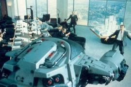 GOOD SHIT, CLICK The opening scene of Paul Verhoeven's Robocop.