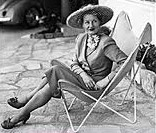 SITTING IN STYLE Beryl Guertner in the 1950s.