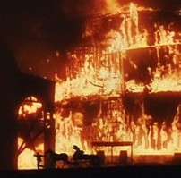 BURNING BRIDGES Atlanta goes up in smoke in Victor Fleming's Gone With the Wind (1939).