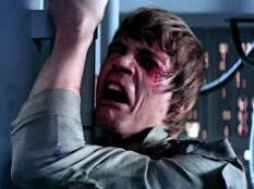 NEW TERRITORY Luke Skywalker takes the news of his parentage badly in The Empire Strikes Back.