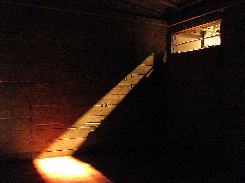 LIVE TRANSPORT Interior of a boxcar used to transport people in World War Two (Photo: US Holocaust Memorial).