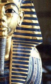 LAPIS OF THE GODS Tutankhamun's death mask is unarguably the prime example of Egyptian cultures love of lapis lazuli beads.