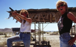 THREE'S A CROWD The climactic scene of Thelma & Louise (Production stills: Roland Neveu).