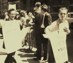 YOUNG COMRADES Bob Gould (far right) was a member of the Communist Party in Sydney with Miriam Dixson in the 1960s.