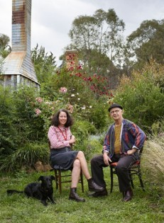 ARTISTS' END Genevieve Carroll and Bill Moseley of Hill End Press (Photo: Martyn Thompson, Vogue Living).