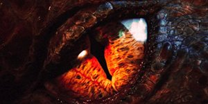 WE'RE WATCHING but we're sick of waiting. Smaug's eye from The Desolation of Smaug.