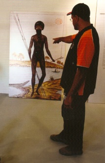 PROUD WARRIOR Peter Williams interprets a portrait of Pemulwuy.