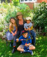 THE GROWING KIND Gardener and writer Mary Moody with some of her grandkids.