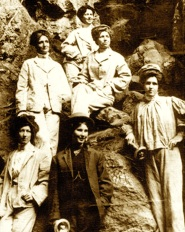 THE CAVE GIRLS An image which may include Katie Webb, her sister and mother.