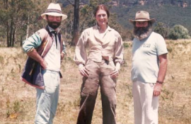 CELLULOID COMRADES Charles Hannah (Production Manager), Vanessa Redgrave and David Hannay (Associate Producer) on location in Hampton.