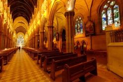 CATHOLIC GROUND Interior of St Mary's Cathedral, Sydney.