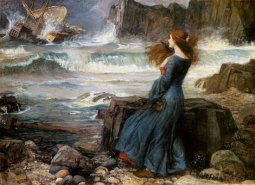 SEA CHANGE Miranda and the Tempest, by John William Waterhouse.
