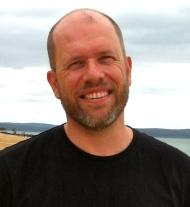 Michael Burge on Coochiemudlo Island.