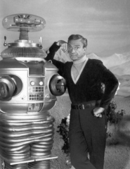 BUMBLING BOOBY! Jonathan Harris as Dr Smith in Lost in Space.
