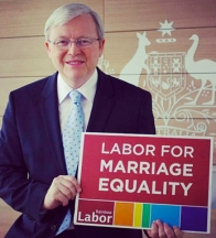 TALK ABOUT KEVIN KRudd's backflip on marriage equality was a surprise.