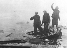 JOURNALISTS AT SEA Grab an oar and row like hell.