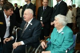 FIRST COUPLE Gough and Margaret Whitlam at the apology to the Stolen Generations, 2008.