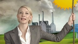 CREATING A STIR Cate Blanchett in the controversial 2011 Carbon Tax ad campaign.