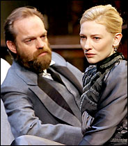 HEDDING OVERSEAS Hugo Weaving and Cate Blanchett in STC's Hedda Gabler.