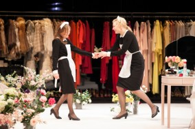 AUSTRALIAN MAID Isabelle Huppert and Cate Blanchett in STC's The Maids.