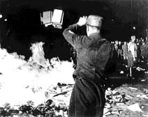 """BOOK BURNING Nazis burning works of Jewish authors, and other works considered """"un-German"""" in 1933."""