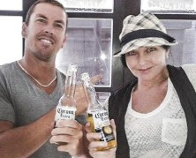CHEERS MATE Schapelle Corby and her brother the day of her release on parole in February 2014.