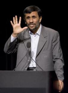 NO PROBLEM Iran's President Ahmadinajad speaking at Columbia University in 2007.