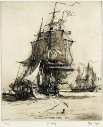 HMS sloop Investigator.