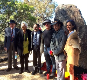 MYALL LEGENDS Elders and dignitaries at the memorial site (Photo: Michael Burge).