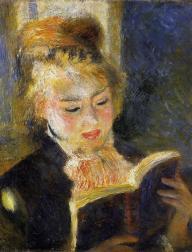 RENOIR'S READER Young woman reading a book, c.1875.
