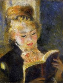 RENOIR'S READER Young woman reading a book, c.1875.