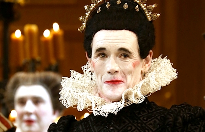 Mark Rylance as Olivia in the Globe Theatre's production of Shakespeare's Twelfth Night Photo by Walter McBride