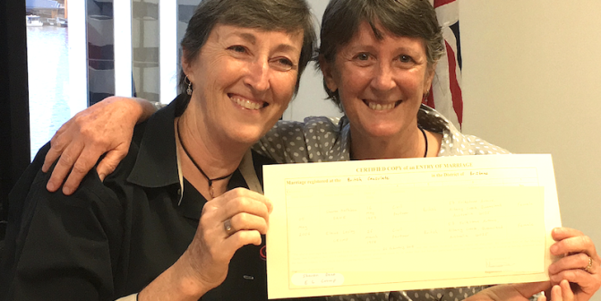 From this day backwards: the long journey to Australia's first lesbian marriage